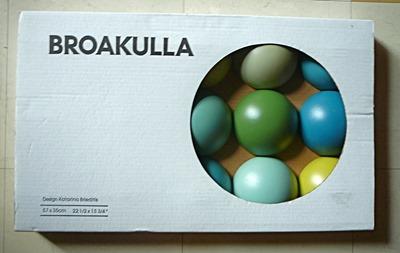 Broakulla half-ball wall art decorative object by Katarina Brieditis, packaging