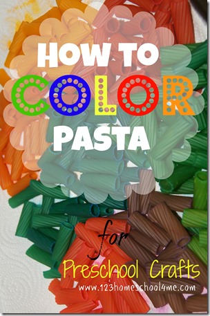 colored pasta for preschool craft pasta necklaces