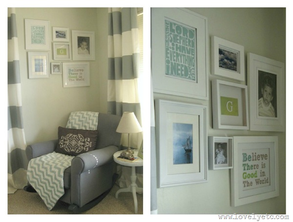 nursery gallery wall collage