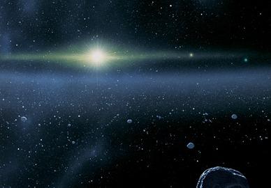 ilustração dos objetos no Cinturão de Kuiper