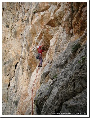Via Costa Blanca 250m 6c  (6b A0 Oblig) (Peon de Ifach, Alicante) (Fran) 4791
