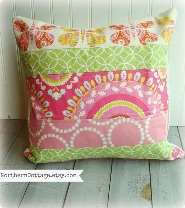 {Northern Cottage} Patchwork Pillow
