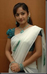 Madhavi Latha _in half saree