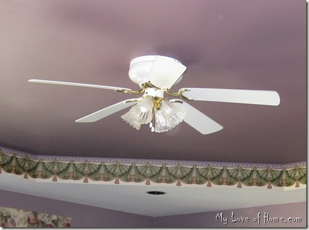 Master Bedroom Ceiling fan brass white