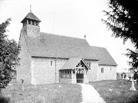 St Mary's. The exterior of the church from the south-west. The flint-faced church has window evidence of a Norman origin, but overall has been much restored. Reproduced by permission of English Heritage NMR.