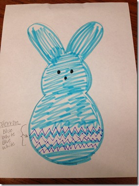 Janette's scribbled bunny peep