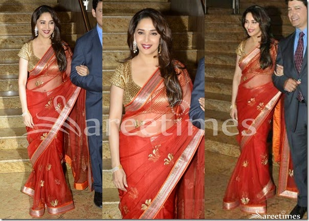 Madhuri_Dixit_Red_SVA_Saree