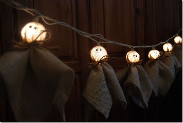 burlap ghost lights tutorial