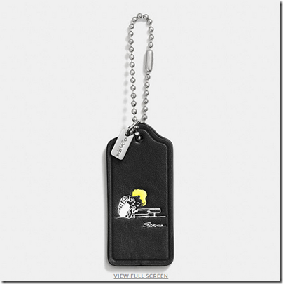 COACH X Peanuts leather hangtag - USD 20 - black 07
