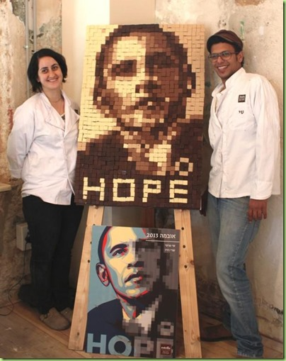 bo in chocolate by israeli students