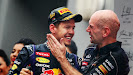 Sebastian Vettel & Chief Technical Officer Adrian Newey (Red Bull Racing)