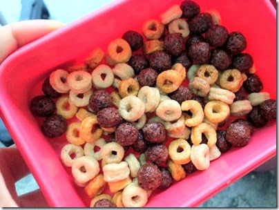 Cheerios with choco cereal