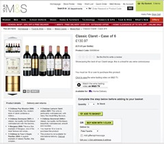 MnS wine 11 mixed case reds classic claret detail