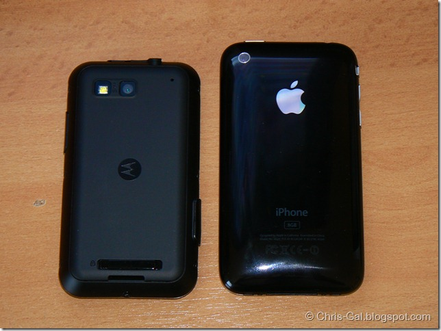 Motorola Defy iPhone 3G