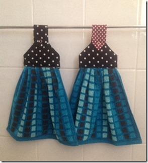 Hand Towel Hangers - Aqua