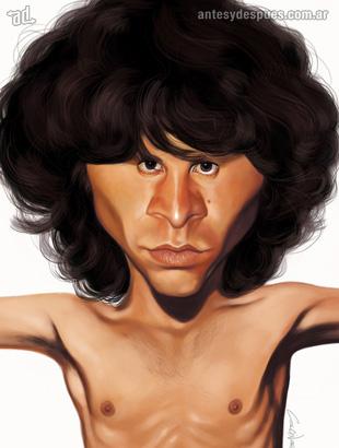 La caricatura de Jim Morrison