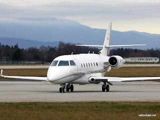 Un bi-réacteur Gulfstream 200, même type d'avion qui s'est écrasé à l'aéroport de Kavumu de Bukavu (Sud-Kivu/RDC), le 12/02/2012. Ph. Internet