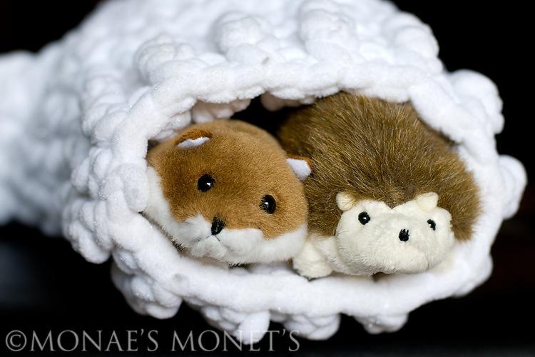 Mitten animals inside blog