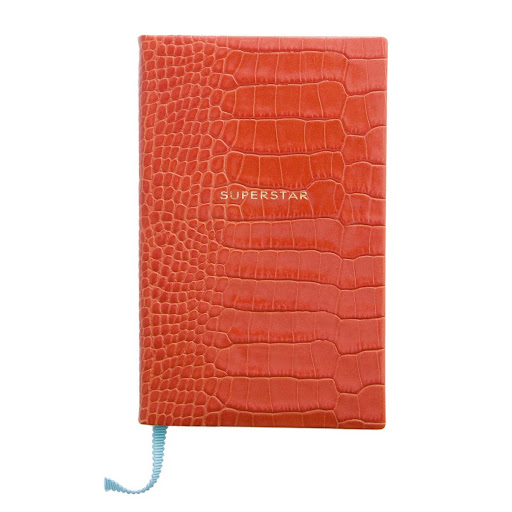 Smythson is known for their irreverent and cheeky touches. This notebook is not for the self-conscious. (smythson.com)