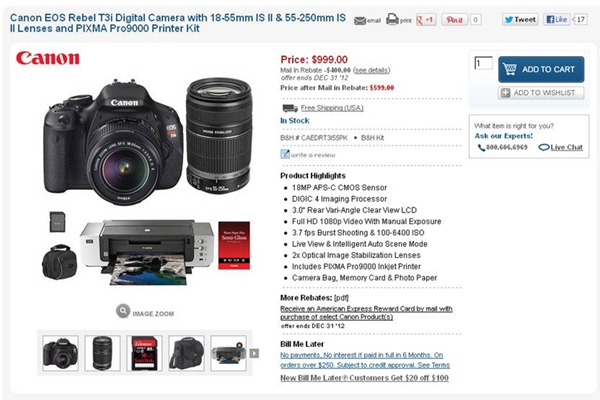 Canon T3i Sale
