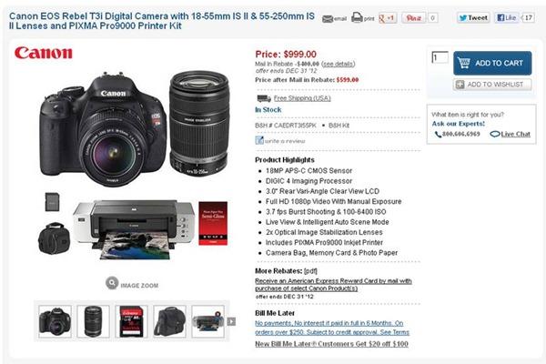 Canon T3i Sale