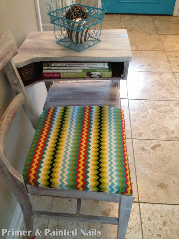 Colorful ZigZag Chair (2) - Primer & Painted Nails