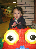 Another shot of Eidan in the lego car