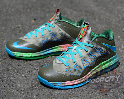 nike lebron 10 low gr black turquoise blue 1 03 Surprise, Surprise... Nike Air Max LeBron X Low Tarp Green