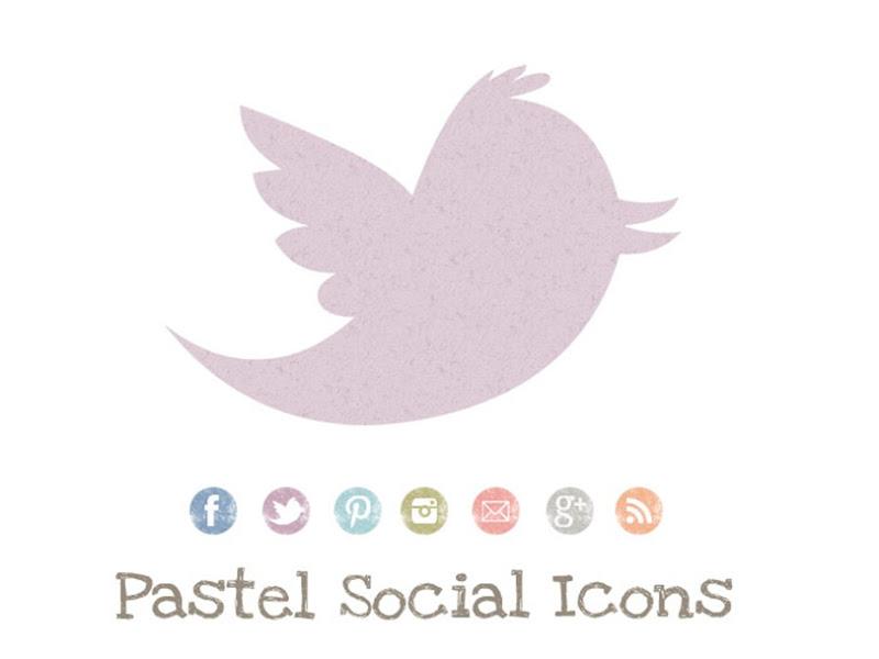 free pastel social media icons