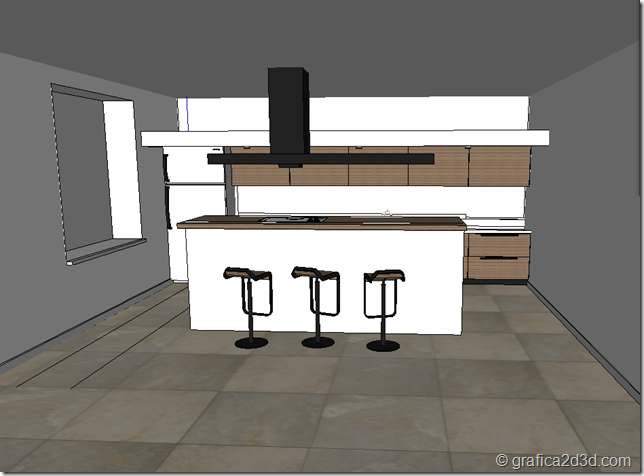 making of tutorial kitchen vray sketchup a