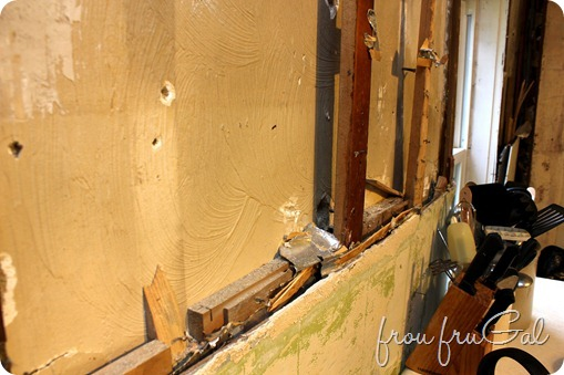 Kitchen Demo - Window Wall Paneling