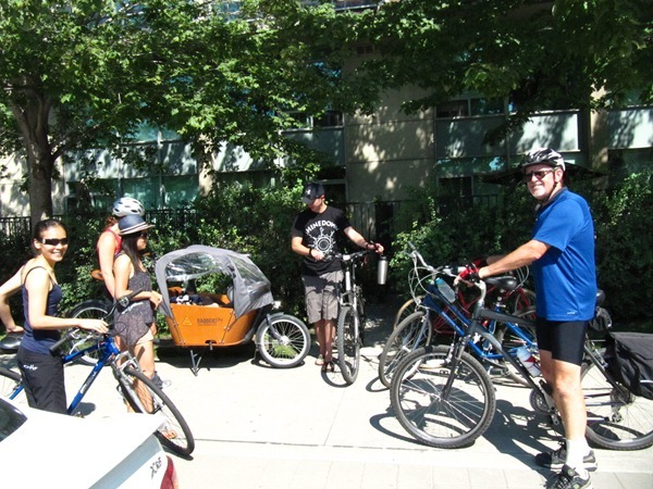 Family bike ride - Toronto