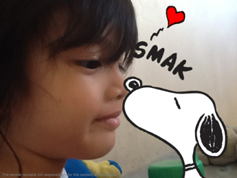 Gabe and snoopy