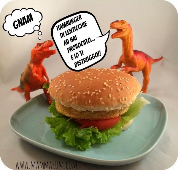 ricetta panino hamburger lenticchie bambini