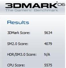 Dell Inspiron N5420 Benchmark 3Dmark 06