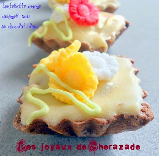 tartelette au chocolat blanc