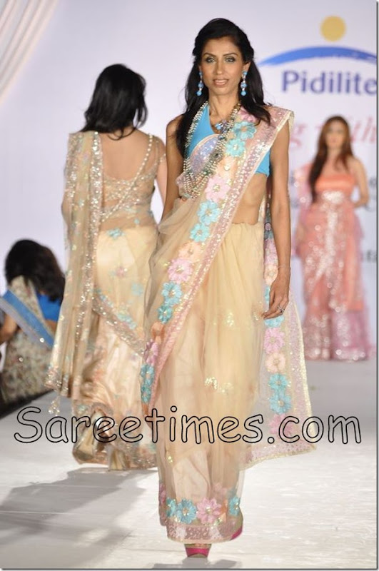 Cream_Designer_Sari