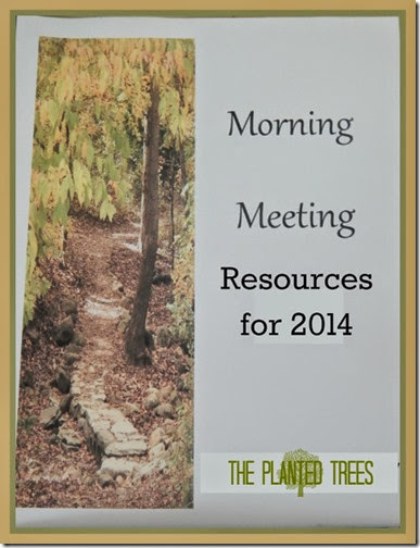 Morning Meeting Resources for 2014