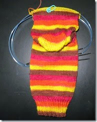Grade School Turkey Sock 1 - Foot