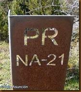 Indicación sendero PR NA-21
