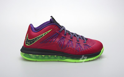 nike lebron 10 low gr purple neon green 3 02 Nike Air Max LeBron X Low Raspberry Official Release Date