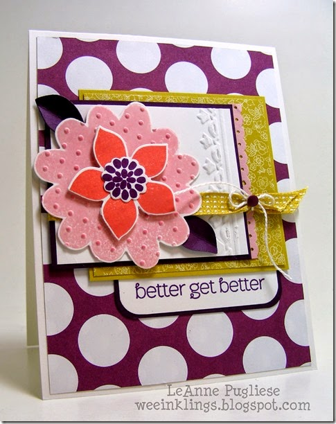 LeAnne Pugliese WeeInklings ColourQ259 Flower Patch Stampin Up