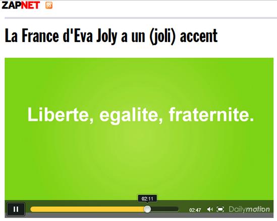 Eva Joly Fraternité