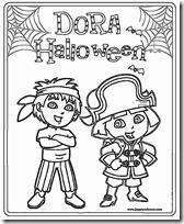 dora halloween jugarycolorear (1)