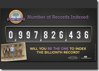 "FamilySearch counting ""down"" to one billion records"