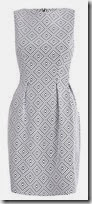 White Jacquard Sleeveless Dress