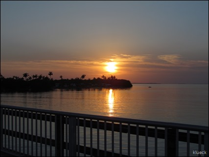 sunset from bridge overlooking Sunshine Key