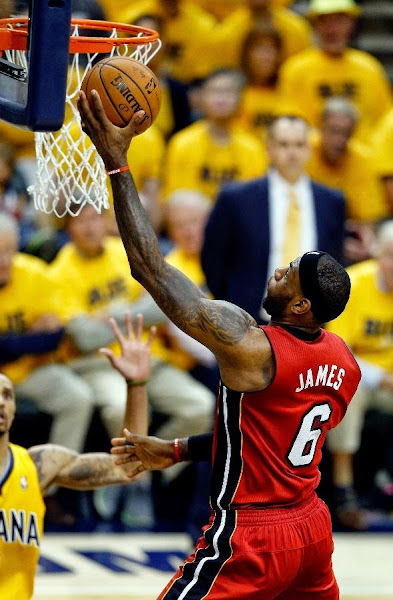 lebron james nba 140518 mia at ind 32 game 1 Balanced Pacers Drop LeBron and the Heat in Series Opener