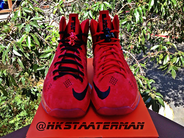 Nike LeBron X EXT 8220Red Suede8221 8211 New Pics amp Video Review
