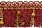 Taśma z frędzlami (grzywką) i koralami (dzwonkami) do dekoracji mebli, zasłon, narzut, abażurów.